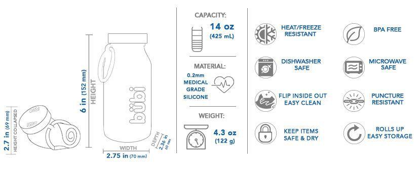 BPA-free reusable water bottle