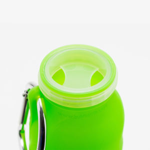 Thread Collapsible and foldable silicone water bottle
