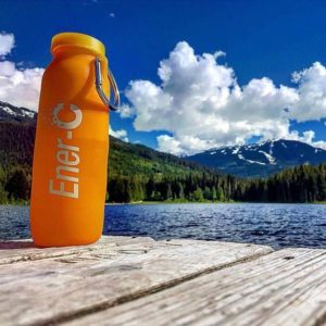 foldable water bottle, silicone bottle, hiking, camping, travel gear , water bottle