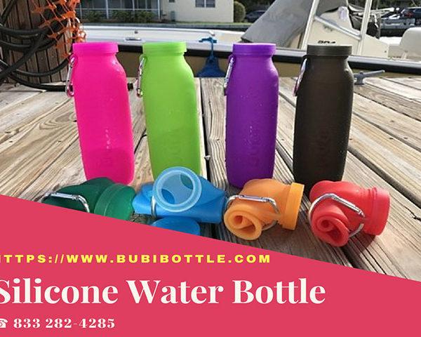 Flexible roll up water bottle