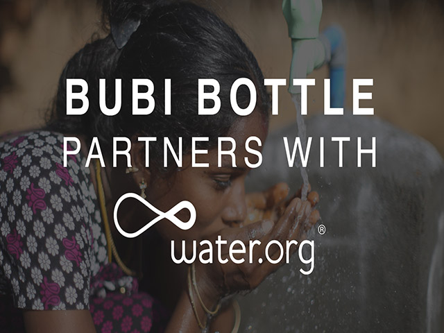 Bubi Bottle Partners with Water.Org