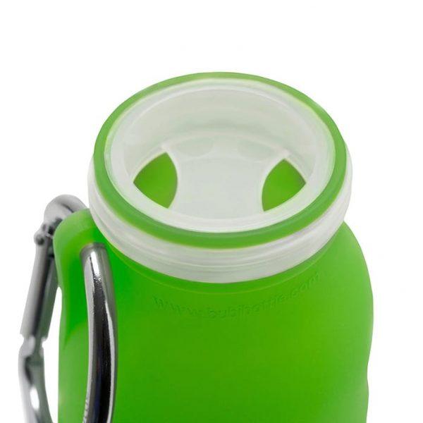 Seaweed green inside, silicone water bottle, Hydration, collapsible water bottle, Best water bottle, sports bottle, hiking bottle,