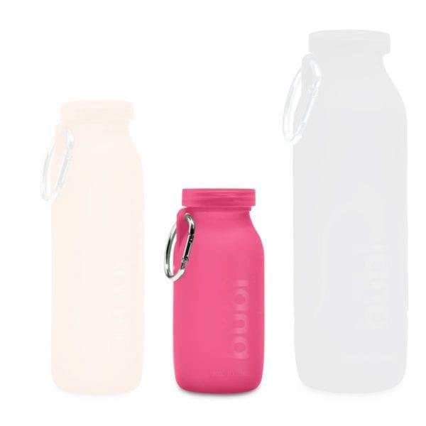 Pink water bottle, Childrens water bottle, silicone water bottle, coffee bottle
