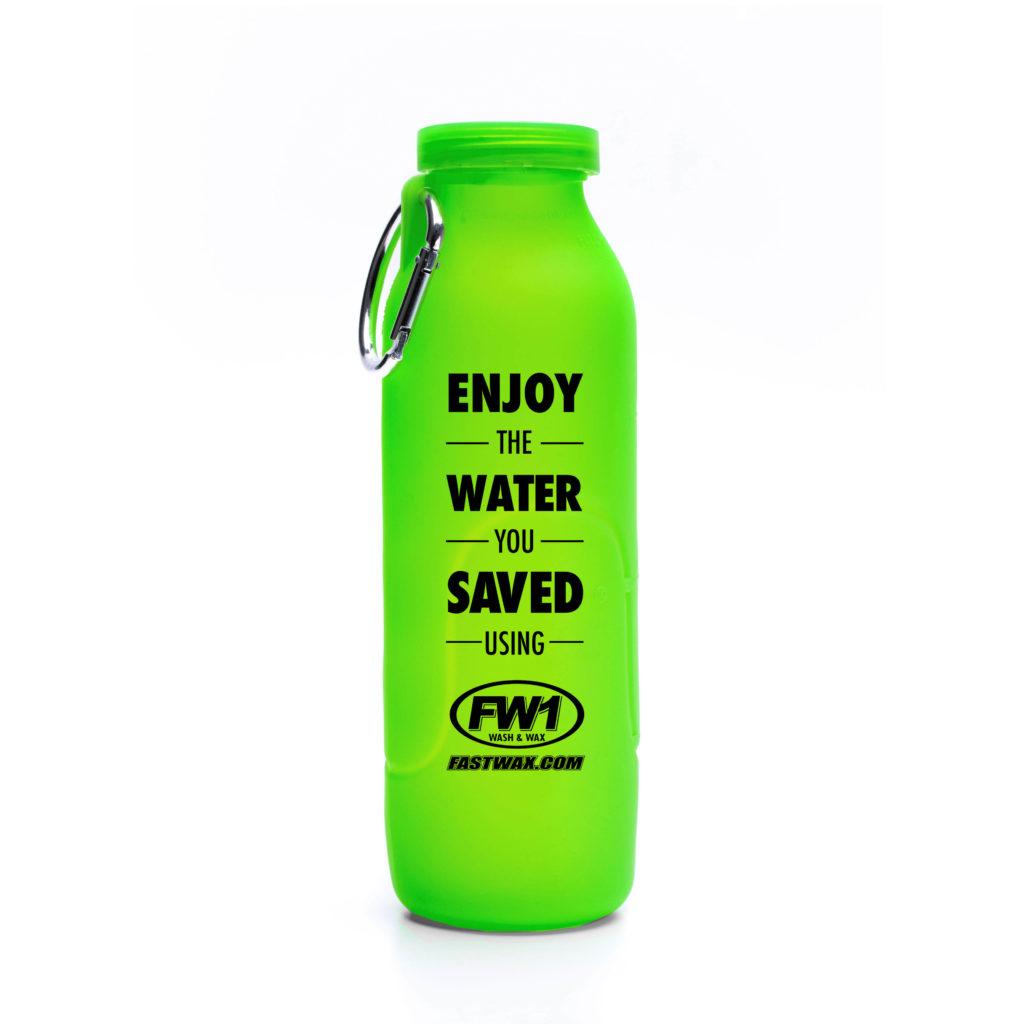Fastwax, customized water bottle, Green bottle, silicone water bottle, Personalized