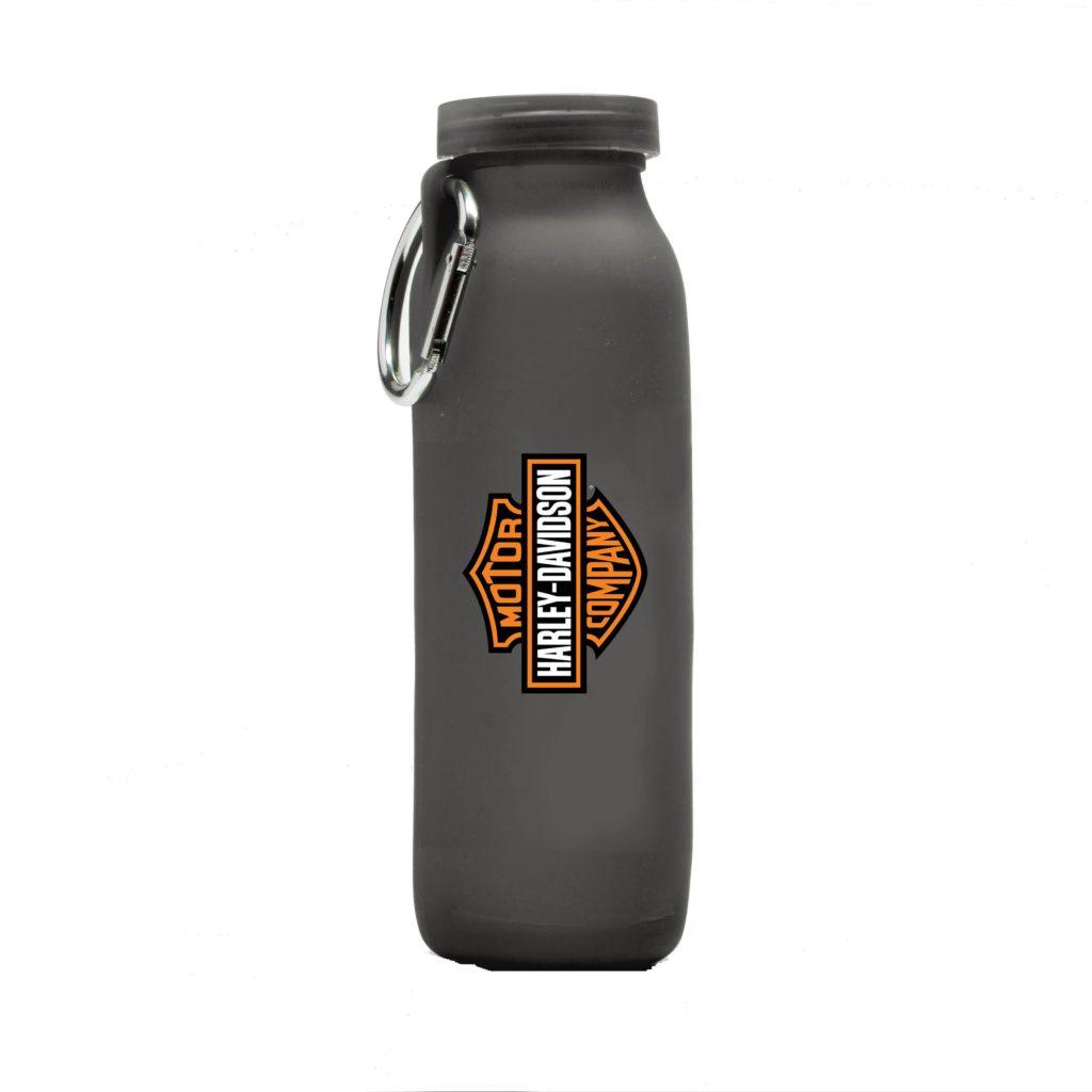 Harley-Davidson, customized water bottle, Grey bottle, silicone water bottle, Personalized